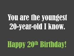 20th birthday wishes to write in a card holidappy