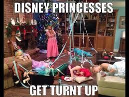 Turnt Up Meme - disney princesses get turnt up youtube