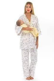 olian maternity olian maternity yellow flowers nursing pajama set tummystyle