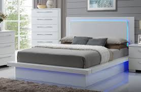 Led Bed Frame New Classic Sapphire California King Platform Bed In White