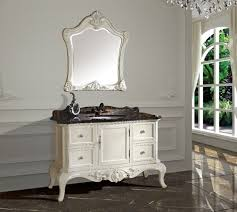 Classic Bathroom Furniture New Arrival Antique Bathroom Cabinet With Mirror And Basin Counter
