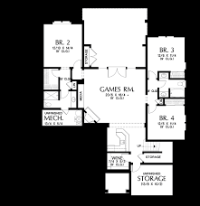House Plans For Sloping Lots Mascord House Plan 1337 The Ashwood