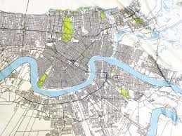 New Orleans District Map by Bedding Ellen Macomber
