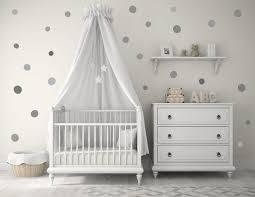 Baby Nursery Decals New Baby Nursery Wall Decals Gray Grey Polka Dots Baby
