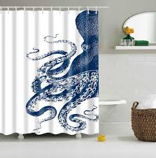 Custom Bathroom Shower Curtains 2018 Wholesale Custom Shower Curtain Octopus Kraken Design