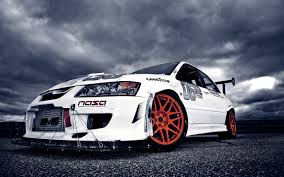 mitsubishi white white mitsubishi lancer racing car wallpaper i 4169 wallpaper