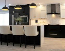 black lower kitchen cabinets white cities black white and gold kitchen remodel