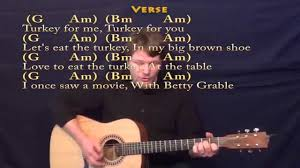 thanksgiving song adam sandler strum guitar cover with chords