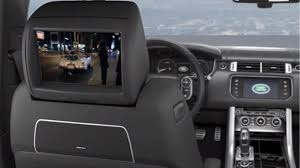 land rover back rear seat entertainment