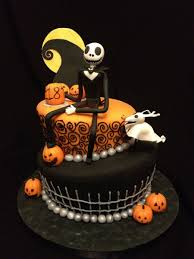 Cool Halloween Cakes by Nightmare Before Christmas Themed Birthday Cake This Cake Design