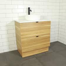 como timber floor mount vanity cabinet without top 750mm
