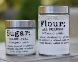kitchen canisters flour sugar kitchen canister etsy