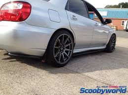 subaru voltex scoobyworld rear diffusers u0026 side skirts
