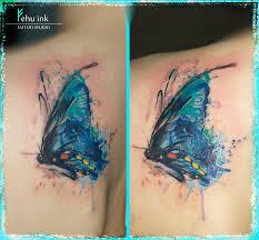 butterfly blue watercolor tattoo elle gottzi fehu ink u2013 fehu ink
