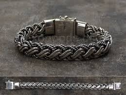 silver weave bracelet images Heavy silver bracelet of complex weaving for men and women jpg