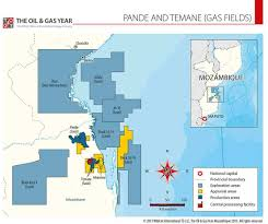 Mozambique Map Mozambique U0027s Pande And Temane Gas Fields Map 2013 The Oil U0026 Gas Year