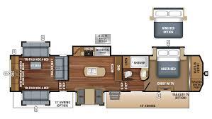Jayco 5th Wheel Rv Floor Plans by 2018 Jayco North Point 387rdfs Model