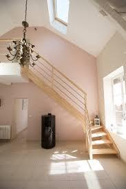escalier bois design escalier bois métal lisse inox aluminium contemporain sur mesure