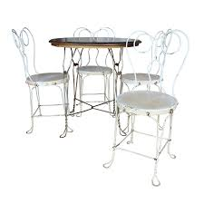ice cream parlor table and chairs set vintage ice cream parlor dining set chairish