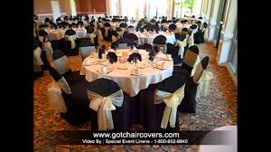 black chair covers yellow gold bows on black chair covers