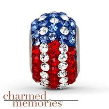 kay jewelers charmed memories kay charmed memories crystal flag charm sterling silver