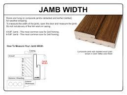 Exterior Door Jamb Wood Door Jamb Detail