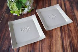 personalized platters wedding set of personalized platters always with initials and date mo