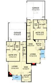 duplex house plan with unique units 16809wg architectural