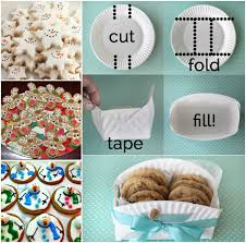 diy paper plate cookie basket video tutorial the whoot