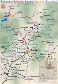 New Mexico Map With Cities And Towns by Santa Fe City And Northern New Mexico Maps