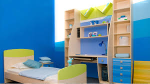blue background in kids study room and bedroom wallpaper