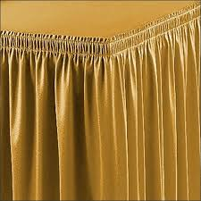 buy shirred and box pleated table skirts 13 color options