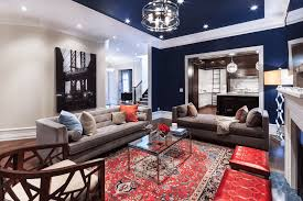 Painted Ceiling Ideas Freshome - Blue living room color schemes