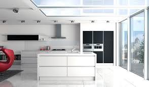 linear gloss white and matt black grained symphony kitchen