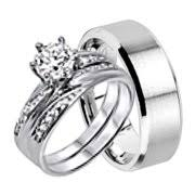 Black Wedding Rings For Her by Wedding Ring Sets For Him U0026 Her