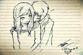 gallery cute couple drawings hugging drawing art gallery