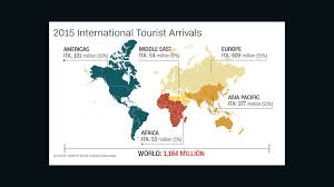 New Middle East Map by Unwto More International Tourists Than Ever In 2015 Cnn Travel