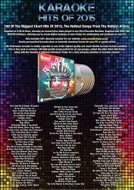 mr entertainer karaoke hits of 2015 100 song 6 disc cd g cdg