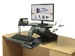 Raised Desk Shelf Furniture Adorable Adjustable Standing Desk Converter With Chic