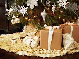 brown christmas tree skirt how to make a ruffled christmas tree skirt without sewing hgtv