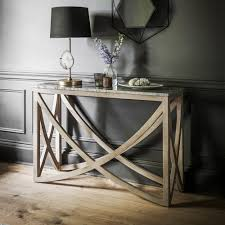 Stone Console Table Lily Console Table With A Marble Natural Stone Top