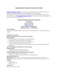 bunch ideas of electrical engineer fresher resume sample for job