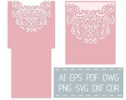 Wedding Invitation Pocket Envelopes Wedding Invitation Pocket Envelope 5x7 Template Cutting File