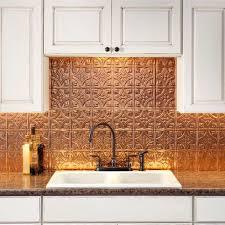 Fasade Kitchen Backsplash Facade Traditional Style 1 Polished Copper Backsplash 18 Inch X