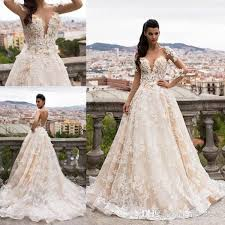 bargain wedding dresses uk discount milla 2017 wedding gowns 3d flower appliques open