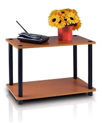 Cherry End Tables Furinno Light Cherry Black Two Tier End Table Zulily