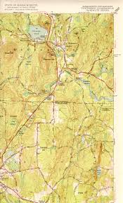 Map Of New England Area by Townsend Ma Nh Quadrangle