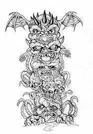 demonic totem pole by scottkaiser on deviantart