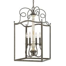 french country chandeliers capital lighting 510342fc vineyard 4 light foyer pendant in french