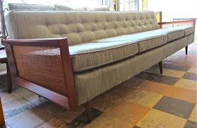 Mid Century Modern Convertible Sofa by Mid Century Extra Long Couch Bench With Wooden Frame And Four